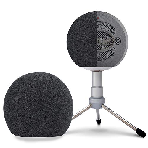 Blue Snowball Foam Windscreen - Professional Mic Foam Wind Cover Windshield Pop Filter for Recordings, Broadcasting, Singing by SUNMON