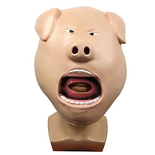 YHX Mscara de Sombrero de Cerdo Enojado, Lindo Sombrero de Animal para Fiesta de Disfraces, Accesorios de actuacin de Halloween