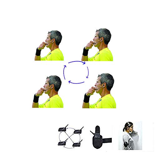 Schiedsrichter-Headset 4 Schiedsrichter sprechen gleichzeitig Fußball Funk-Headsets Schiedsrichter-Headset Schiedsrichter-Kommunikation Fußball Schiedsrichter Funk-Headset Fußball