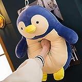 ASDFF Peluches Creative Cute Penguin Doll Software de Juguetes de Peluche Penguin Cartoon Doll Pillow Regalo de cumpleaños para niños 50cm Azul Oscuro
