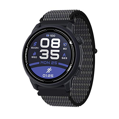 COROS PACE 2 GPS-Sportuhr Dark Navy mit Nylon-Armband - Blau