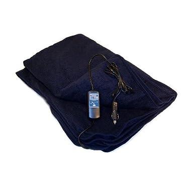 Trillium Worldwide Car Cozy 2 12-Volt Heated Travel Blanket (Navy, 42  x 58 )