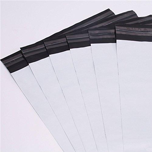 logei® 100St Plastik Versandtaschen Versandtüten Folienversandtaschen Versandbeutel Warenbeutel aus Plastik für Kleidung und Textilien selbstklebend, undurchsichtig, 35cm x 45cm