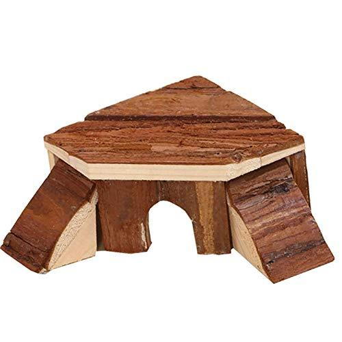 Berrywh, casetta per criceti in legno per piccoli animali domestici, nascondiglio per criceto nano, gabbia per dormire, per cincillà, topo gerbillo