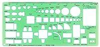 シンワ測定(Shinwa Sokutei) テンプレート 家具定規 66007