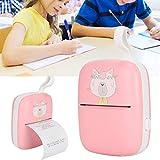 Impresora portátil para teléfono, impresoras portátiles multifunción para oficina para profesores para estudiantes para la escuela(Pink (with silicone rope), Pisa Leaning Tower Type)