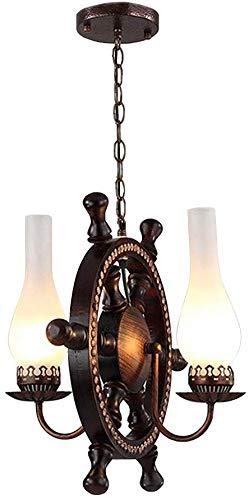 LLYU 2 lampen kroonluchter hanger licht opknoping lamp Celling verlichting armatuur met nautische stijl vaas mat glas schaduw gebruik E26 lamp