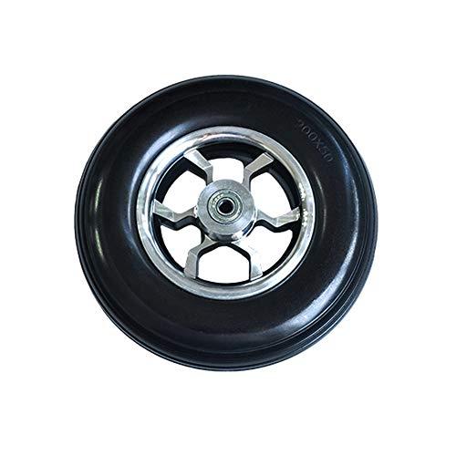 Caster Neumáticos sólidos para sillas de Ruedas eléctricas de 8 Pulgadas, Ruedas Delanteras, Resistentes al Desgaste, Antideslizantes, de Larga duración y duraderas