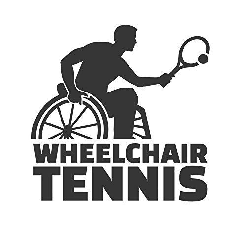 SUPWALS Wandtattoos Rollstuhl Tennisspieler Wandaufkleber Kunst Abnehmbarer Tennissport Aufkleber Für Wohnzimmer Dekoration 100X100Cm