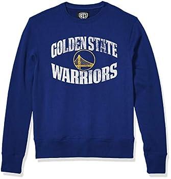 OTS NBA Golden State Warriors Men s Fleece Crew Alternate Distressed Marbleton Large