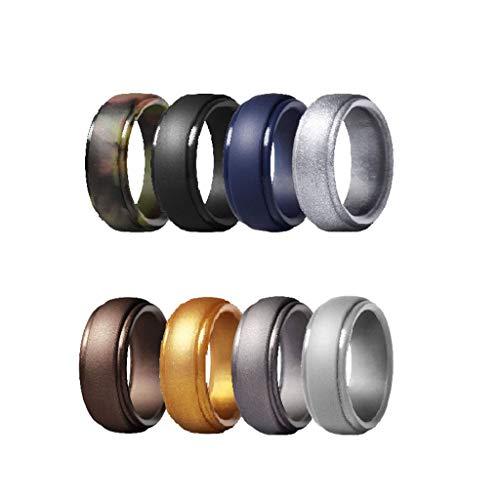 MXH neutraal 8 kleuren combinatie arc getrapte siliconen ring outdoor sportring