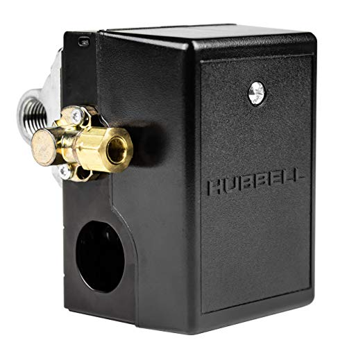 Pressure switch for air compressor made by Furnas / Hubbell 69JF9LY2C 140-175 Four port w/ unloader & on/off lever