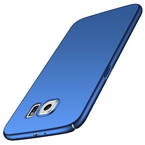 Anccer Cover per Samsung Galaxy S6, [Alta Qualità] [Ultra Thin] Anti-Scratch Hard PC Case Custodia Compatibile con Galaxy S6 (Non adatto per Galaxy S6 Edge)-Azzurro liscio