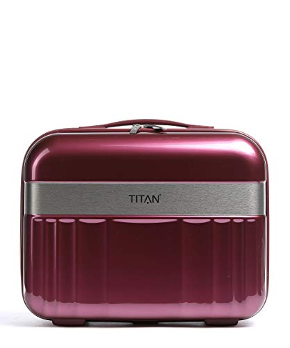 TITAN Handgepäck Kosmetikkoffer mit Liquids Bag + Aufsteckfunktion, Gepäck Serie Spotlight: Edles Beautycase in trendigen Farben, 831702-17, 38 cm, 21 Liter, Beet red (rot)