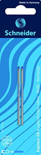 Schneider Schreibgeräte Mehrfarb-Kugelschreibermine Express 56, dokumentenecht, M, bl, 2er Blisterkarte