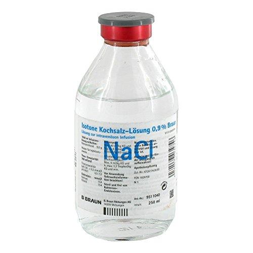 Kochsalzlösung 0,9% Glasfl., 250 ml