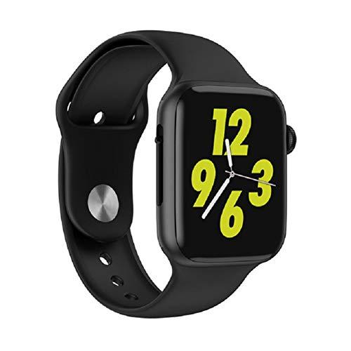 Soulusic IWO 8 Lite Bluetooth Chiamata Intelligente Watch, ECG Cardiofrequenzimetro Smartwatch per Android iPhone,Nero
