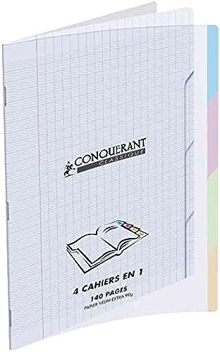Eroberer Sieben Hefte, PolypropÃlen, 12   1 0 320 , Seyès-Lineatur, 140 iten 90