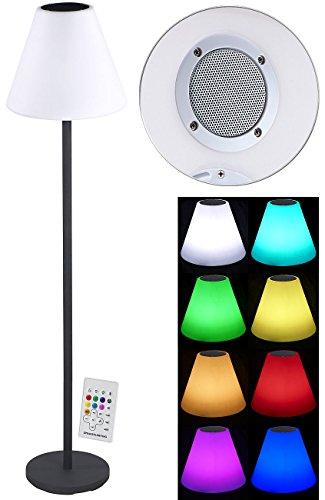Lunartec Stehlampe: Solar-LED-Stehleuchte, Lautsprecher, Bluetooth, 7 Farben, 50 lm, 2,4 W (LED Stehlampe)