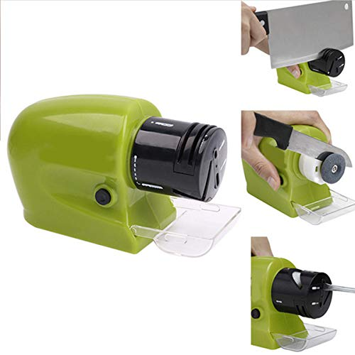YINUODAY Electric Knife Sharpeners, Portable Pocket Knife Sharpener Best for Kitchen Chef Paring Knives Fast and Effective Sharpenin