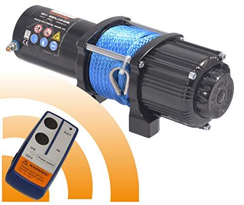Power Series® 12V Elektrische Seilwinde 5000 Extreme mit Funkfernbedienung und Handschalter - Zugkraft 2268 kg (Kunststoffseil/Synthetikseil) / 4536 kg (mit Umlenkrolle)