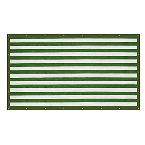 LCISCOUP Pantalla Privacidad Balcón de Rayas Privacidad Blindaje al Aire Libre Camping Shade Net Fuerte Anti-Ultravioleta Habilidad Anti-Envejecimiento Largo Vida Durable (Color : Green 2m2m)