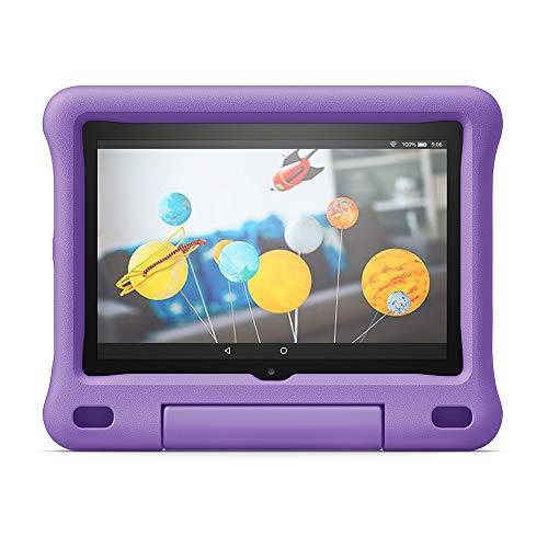 Funda infantil para tablet Fire HD 8 (compatible con la 10.ª generación, modelo de 2020), morado