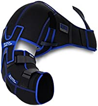 Shock Doctor Ice Recovery Shoulder Elbow Compression Wrap, Large/X-Large, Black