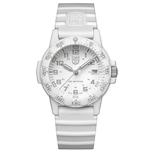 Luminox Unisex Datum klassisch Quarz Uhr mit Silikon Armband XS.0307.WO