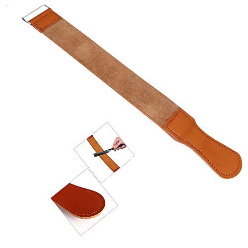 inherited Abziehriemen aus echtem Leder, Extra Breite Ausführung Echt Leder aus Rindleder zum schärfen von Rasiermesser Geeignet für Rasiermesser, Messer-Braun