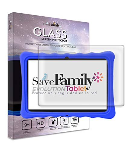 Protector de Pantalla SAVEFAMILY para Tablet Evolution 10 Pulgadas. Cristal Templado, Protección Ocular, Alta Resistencia, Pantalla HD, Resistente a Manchas...