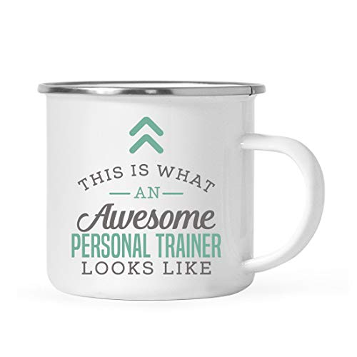 Andaz Press 11oz. Stainless Steel Campfire Coffee Mug Gift, This is What an Awesome Personal Trainer Looks Like, 1-Pack, Birthday Gift Ideas Coworker Him Her, Includes Gift Box