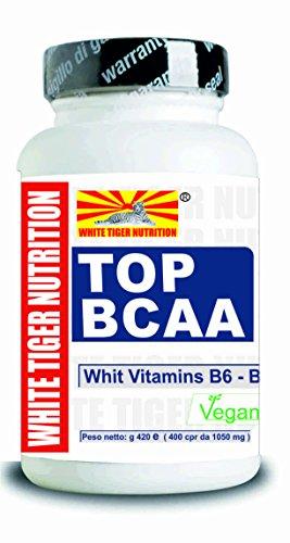 Aminoacidi Ramificati BCAA 1200 Compresse + Vitamine B6 e B1 Rapporto 2:1:1 Aumento Massa e Recupero Muscolare Valina Leucina Isoleucina Integratori Senza Lattosio Ciclismo Bodybuilding