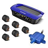 Tymate 6 Tire Pressure Monitoring System for RV Trailer - Solar TPMS with 6 DIY Tire Pressure Sensors,...