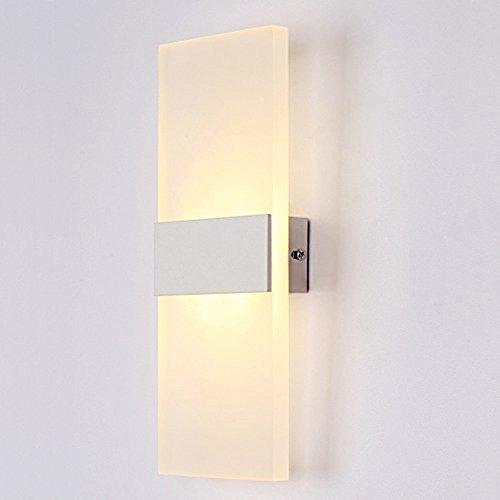 Unimall Modern Wandleuchte LED innen Wandlampe 6W ideal für Schlafzimmer Wohnzimmer Treppenhaus Flur energiesparend, Warmweiß