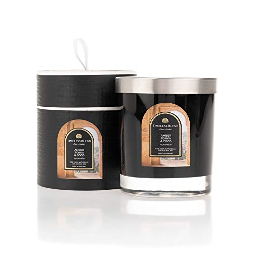 Bougie Bijou Timeless Blend Alhambra • Bougie parfumée avec bijou à l'intérieur • Cadeau: Bague argent massif 925 (sterling silver) • Parfum Alhambra • Cire 100% Naturelle