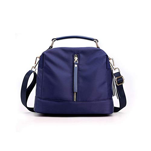 Bolsos de moda ligero Crossbody bolsa de viaje monederos bolsa de hombro mediano para las mujeres, azul (Azul / Patchwork), Medium