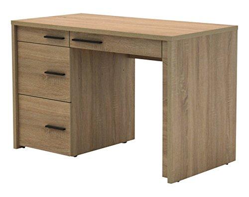 Jahnke CL 120 Eiche Sägerau Laptop-Tisch, E1-Spanplatten, melaminharzbeschichtet, 115 x 60 x 76 cm