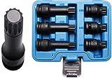 BGS 5380 | Juego de puntas de vaso de impacto | entrada 12,5 mm (1/2') | dentado múltiple interior (para XZN) M14 - M18 | 6 piezas