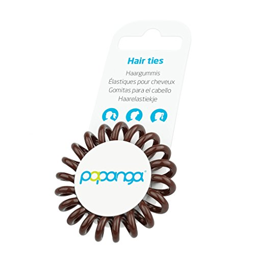 Original Papanga® Spiral Haargummi, Classic Edition, Größe: Small, Farbe: Chocolate