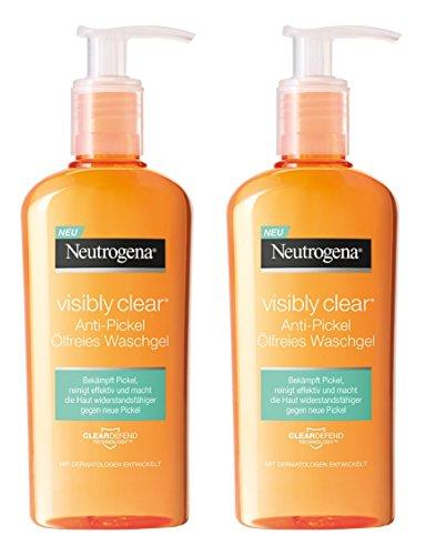 Neutrogena Anti-Pickel Tägliches Waschgel, 2 x 200 ml