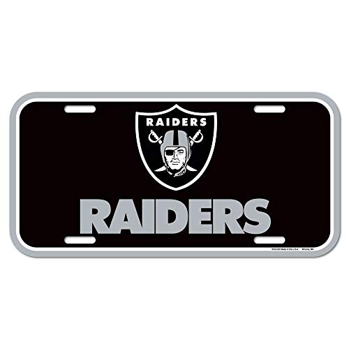 NFL Oakland Raiders License Plate, Team Color, One Size