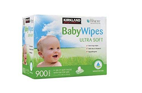 2 X Kirkland Baby Wipes - Unscented - 900 ct