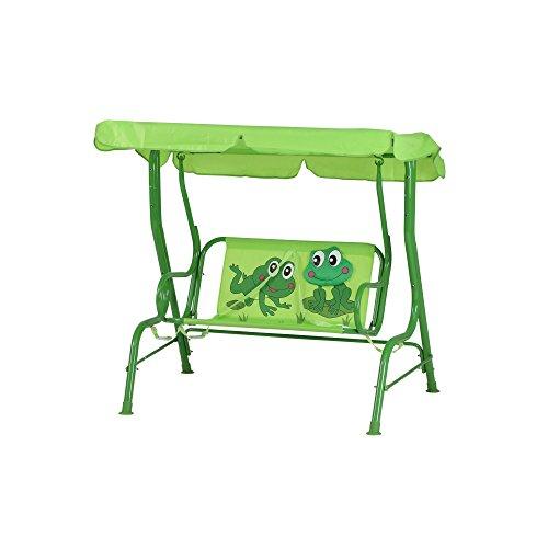 Siena Garden Kinderschaukel Froggy, 75x115x118cm, Gestell: Stahl, in grün, Fläche: Polyester in grün