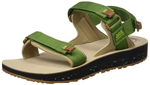 Jack Wolfskin Outfresh Deluxe Sandal M, Sandalias Deportivas para Hombre, Verde (Green/Brown 4466), 42 EU