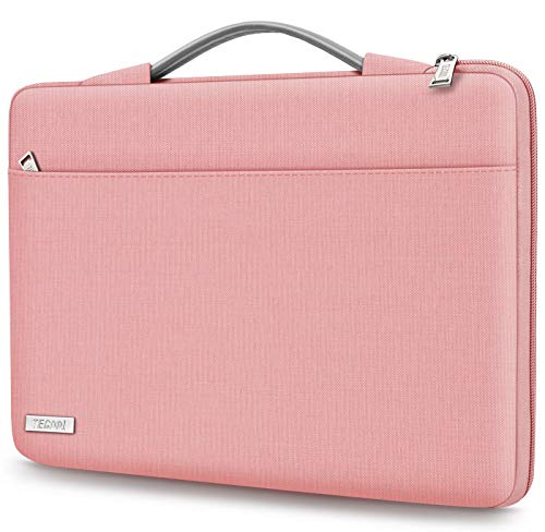 TECOOL Custodia Laptop Borsa per 14 Pollici HP Lenovo Acer ASUS dell Notebook, 15 Pollici Surface Laptop 3, 2016-2019 MacBook PRO 15 Sleeve Portatile Cover con Maniglia Retrattile, Rosa