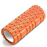 JUYEE フォームローラー 筋膜リリース ローラー 筋膜ローラー ヨガポール フィットネス エクササイズ ストレッチ 足裏 首 背中 腰 肩こり 筋肉ほぐし 説明書付属 (オレンジ)