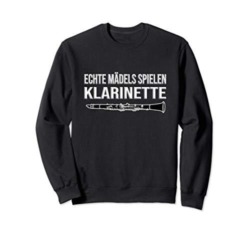 ECHTE MÄDELS SPIELEN KLARINETTE, lustiges Klarinetten Sweatshirt