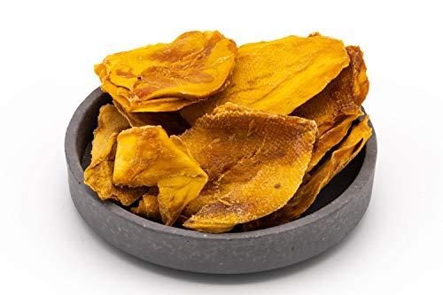 Mitades de mango orgánico seco - natural y sin tratar - crudos - naturalmente muy dulce - 1 kg