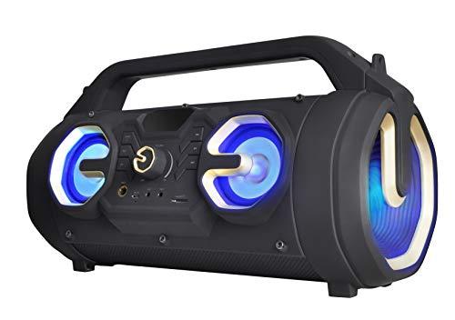 TREKSTOR i.Beat Party BT (20 W Leistung, 8 Stunden Laufzeit, Bluetooth/AUX, microSD) Portabler Lautsprecher (inkl. Karaoke-Funktion und Mikrofon)